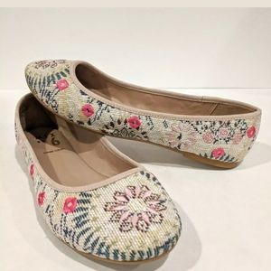 Mix No. 6 Dallilah Embroidered Ballet Flats 6.5